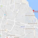 Peta menuju ke Taman Hiburan Pantai (THP) Kenjeran