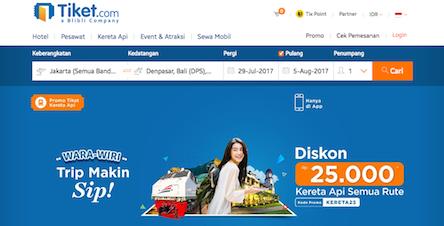 Situs Jual Beli Tiket.com
