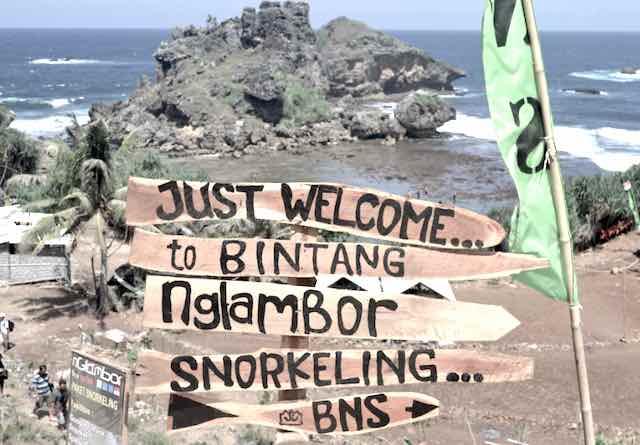 Tempat Snorkeling di jogja Pantai Nglambor